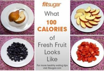 Cate calorii au fructele cele mai cunoscute?