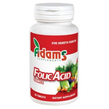 Acid folic 400mcg 30cpr 30 cpr ADAMS SUPPLEMENTS