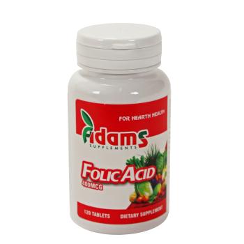 Acid folic 120 tbl ADAMS SUPPLEMENTS