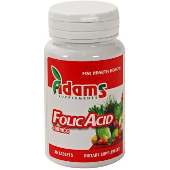 Acid folic 30 tbl ADAMS SUPPLEMENTS
