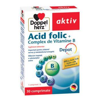 Acid folic +complex de vitamine b 30 cpr DOPPEL HERZ