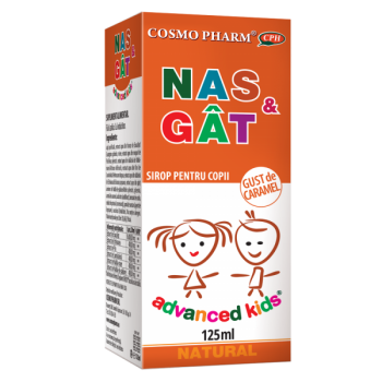 Advanced kids sirop nas si gat 125 ml COSMOPHARM