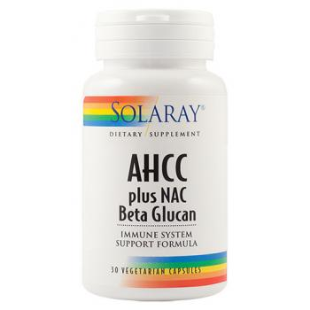 AHCC plus NAC si beta glucan 30 cps SOLARAY