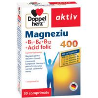 Aktiv magneziu 400 b1+b6+b12 a.folic 30cpr DOPPEL HERZ