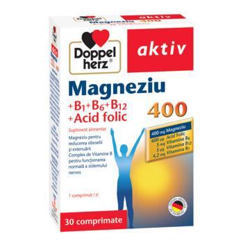 Aktiv magneziu 400 b1+b6+b12 a.folic 30 cpr DOPPEL HERZ