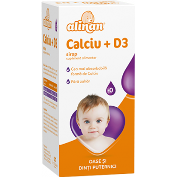 Alinan calciu+d3, sirop 150 ml FITERMAN