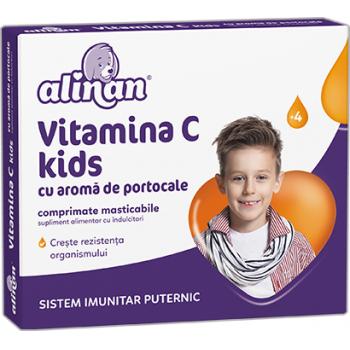 Alinan vitamina c kids aroma portocale 20 cpr FITERMAN