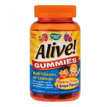 Alive-gummies multivitamine pentru copii 90 cpr NATURES WAY
