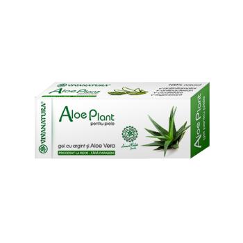 Aloe plant, gel pentru piele cu argint si aloe vera 20 ml VIVA NATURA