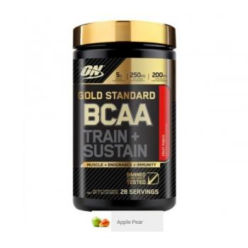Aminoacizi on gold standard bcaa train + sustain apple pear 266 gr OPTIMUM NUTRITION