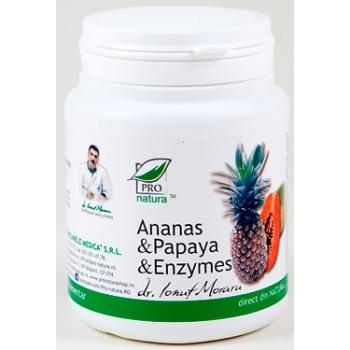 Ananas & papaya & enzymes 100 cps PRO NATURA
