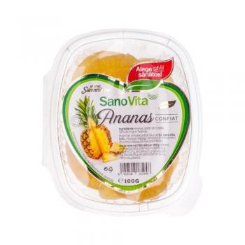 Ananas confiat 100 gr SANO VITA