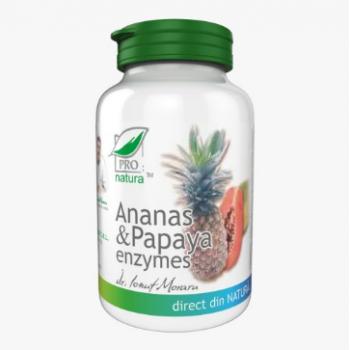 Ananas papaya enzime 60 cps PRO NATURA