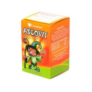 Ascovit capsuni 100 mg 20 cpr HIPOCRATE
