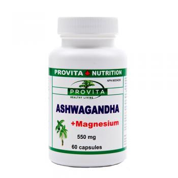 Ashwagandha cu magneziu 60 cps PROVITA