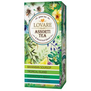 Ceai assorti tea-green 24 pl LOVARE