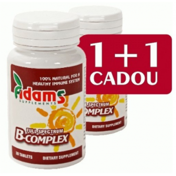 B-complex 1+1 gratis 30 cpr ADAMS SUPPLEMENTS