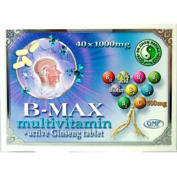 B-max multivitamine +aktiv ginseng  40 cpr MIXT COM