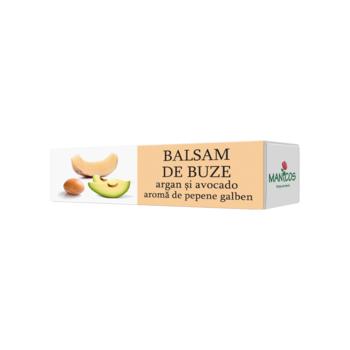 Balsam buze argan,avocado si pepene galben  4.8 gr MANICOS