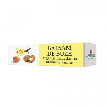 Balsam buze argan,macadamia si vanilie  4.8 gr MANICOS