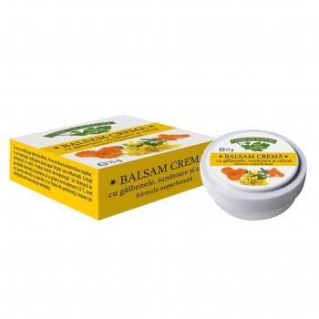 Balsam crema galbenele cu sunatoare si catina  15 ml MANICOS