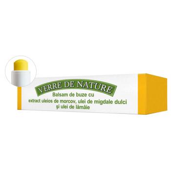 Balsam de buze cu extract uleios de morcovi, ulei de migdale si ulei de lamaie 4.8 ml VERRE DE NATURE