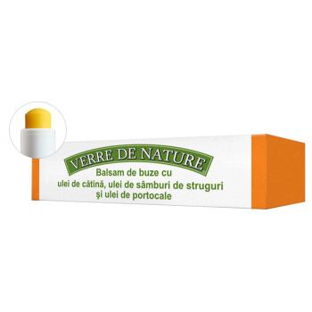 Balsam de buze cu ulei de catina, ulei din samburi de struguri si ulei de portocale 4.8 ml VERRE DE NATURE