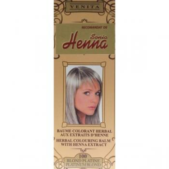 Balsam pentru colorare nr.100 blond platinat 75 ml HENNA SONIA