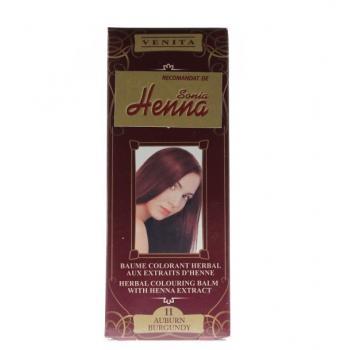 Balsam pentru colorare nr.11 rosu burgundy 75 ml HENNA SONIA
