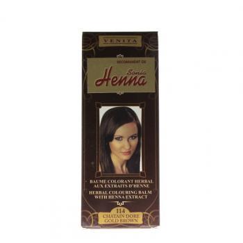 Balsam pentru colorare nr.114 saten auriu 75 ml HENNA SONIA