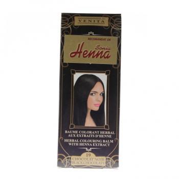 Balsam pentru colorare nr.19 ciocolata neagra 75 ml HENNA SONIA