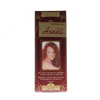 Balsam pentru colorare nr.6 rosu titian 75 ml HENNA SONIA