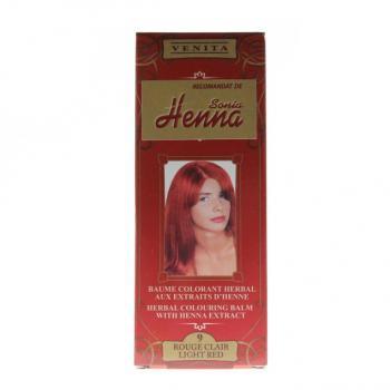 Balsam pentru colorare nr.9 rosu deschis 75 ml HENNA SONIA