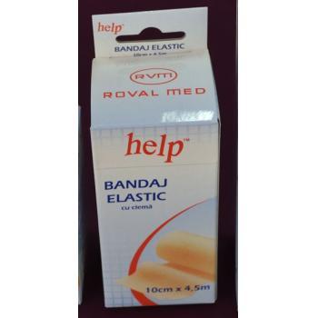 Bandaj elastic cu cleme 10cm x 4.5m 1 gr HELP