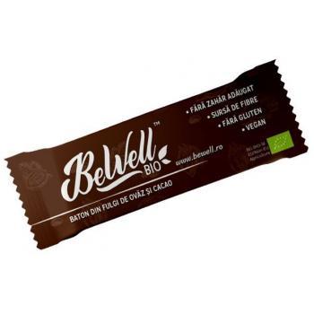 Baton bio cu fulgi de ovaz si cacao 30 gr BEWELL BIO