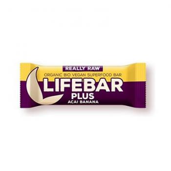 Baton cu acai si banane raw bio 47 gr LIFEBAR