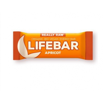 Baton cu caise raw bio 47 gr LIFEBAR