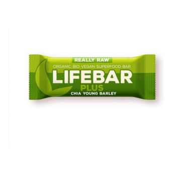 Baton cu chia si orz verde raw bio 47 gr LIFEBAR