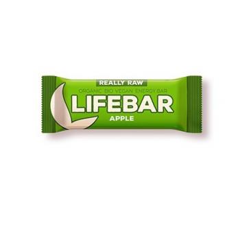 Baton cu mere raw bio 47 gr LIFEBAR