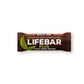 Baton cu proteine si ciocolata raw bio 47 gr LIFEBAR