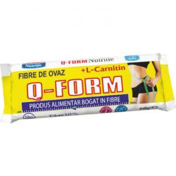 Baton pentru slabit q form cu fibre, ovaz si l-carnitina 60 gr ROMMAC