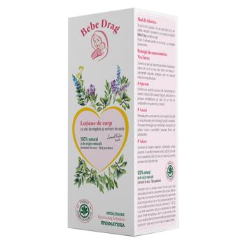 Bebe drag lotiune corp cu ulei de migdale si extract de ovaz 250 ml VIVA NATURA