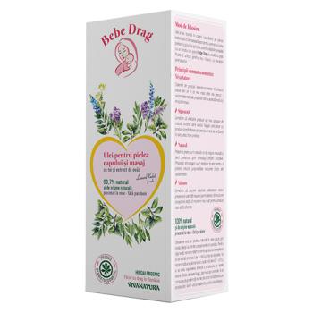 Bebe drag ulei pentru pielea capului masaj cu tei si extract de ovaz 250 ml VIVA NATURA