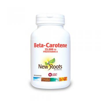 Beta caroten forte – 25.000 ui  90 cps NEW ROOTS