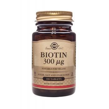 Biotin 300 mcg 100 tbl SOLGAR