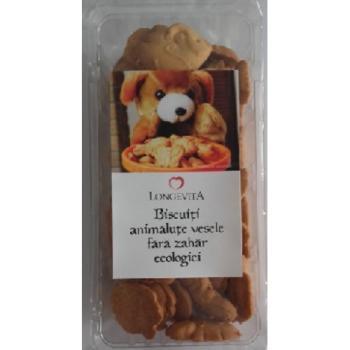 Biscuiti animalute vesele fara zahar 140 gr LONGEVITA