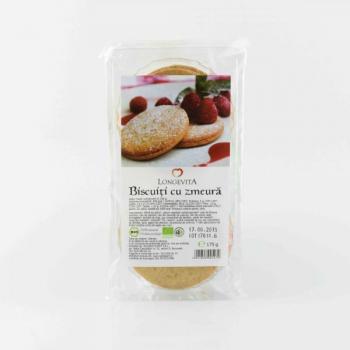 Biscuiti cu crema de zmeura 175 gr LONGEVITA