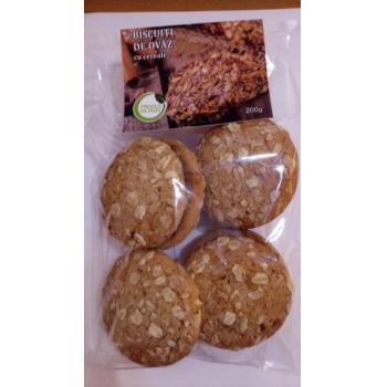 Biscuiti de ovaz cu cereale 200 gr GUSTARELE SANATOASE