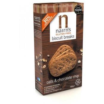 Biscuiti nairn s oatcakes fara gluten din ovaz integral cu ciocolata 160 gr UNICORN NATURALS