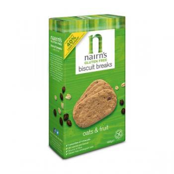 Biscuiti nairn s oatcakes fara gluten din ovaz integral cu fructe 160 gr UNICORN NATURALS